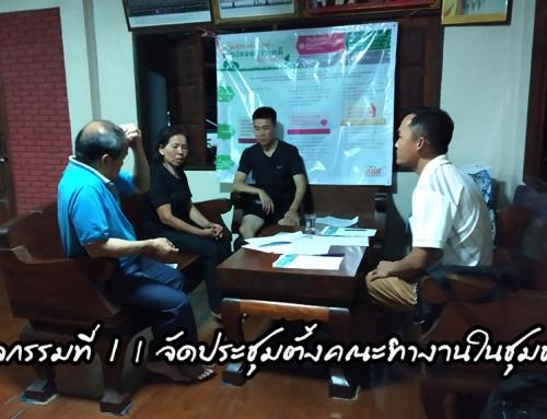 กิจกรรมที่ 1 | จัดประชุมตั้งคณะทำงานในชุมชน